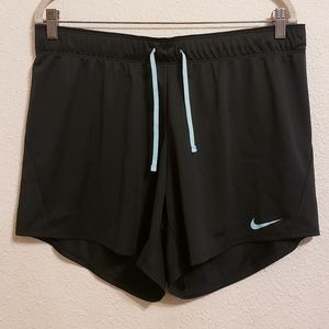 Nike Grey Shorts With Blue